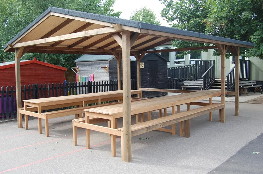 Canopy With Integral Seating Bollard Street Uk Street