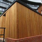 Hardwood store by Bollard Street, UK Street Furniture Specialists