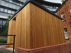 Hardwood store by Bollard Street, UK Street Furniture Specialists
