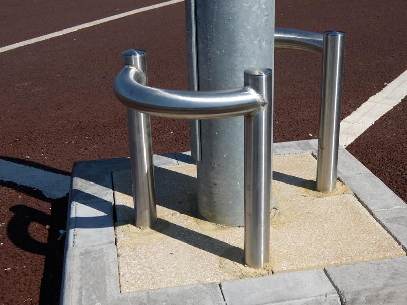 Cage Column Protector Bollard Street Uk Street