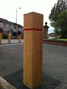 timber bollards