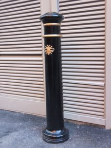 Manchester Bee bollard by Bollard Street, UK Street Furniture Specialists