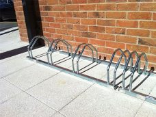 Floor mounted cycle rack by Bollard Street, UK Street Furniture Specialists