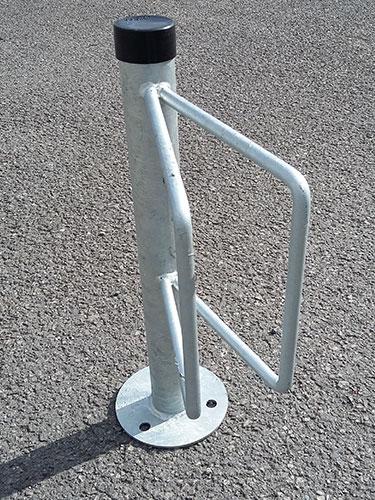 Floor mounted cycle bracket by Bollard Street, UK Street Furniture Specialists