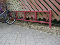 Floor mounted cycle bracket by Bollard Street, UK Street Furniture Specialists