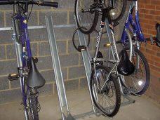 Semi vertical rack by Bollard Street, UK Street Furniture Specialists