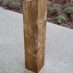 Softwood bollard by Bollard Street, UK Street Furniture Specialists