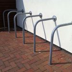 Wall fixed tubular stand by Bollard Street, UK Street Furniture Specialists