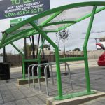 London cycle shelter by Bollard Street, UK Street Furniture Specialists