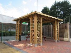 Gazebo smoking shelter by Bollard Street, UK Street Furniture Specialists