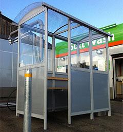 Harrow shelter by Bollard Street, UK Street Furniture Specialists