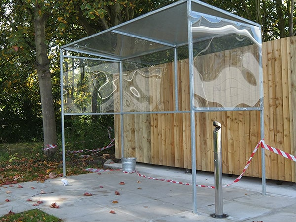 Smoking shelter by Bollard Street, UK Street Furniture Specialists