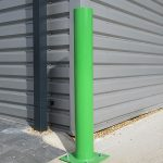 Base plated bollard by Bollard Street, UK Street Furniture Specialists