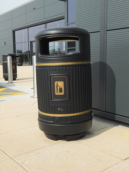 Burscough litter bin by Bollard Street, UK Street Furniture Specialists