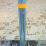 Galvanised round bollard by Bollard Street, UK Street Furniture Specialists
