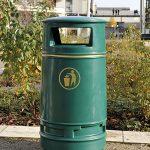 Irlam litter bin by Bollard Street, UK Street Furniture Specialists