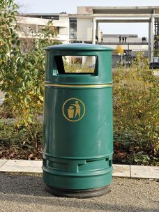 Irlam litter bin by Bollard Street, UK Street Furniture Specialists