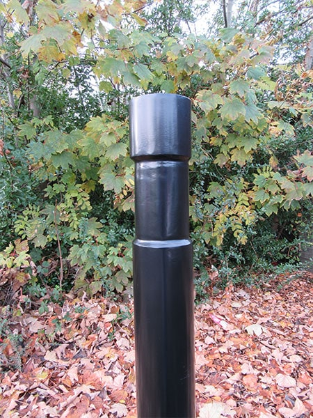 Pronounced rebate bollard by Bollard Street, UK Street Furniture Specialists