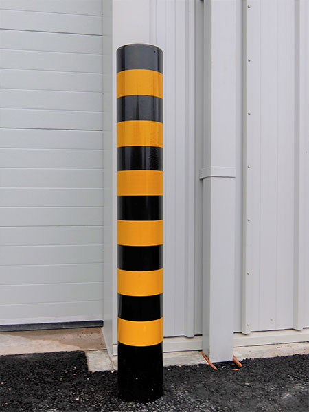 Protection banded bollard by Bollard Street, UK Street Furniture Specialists