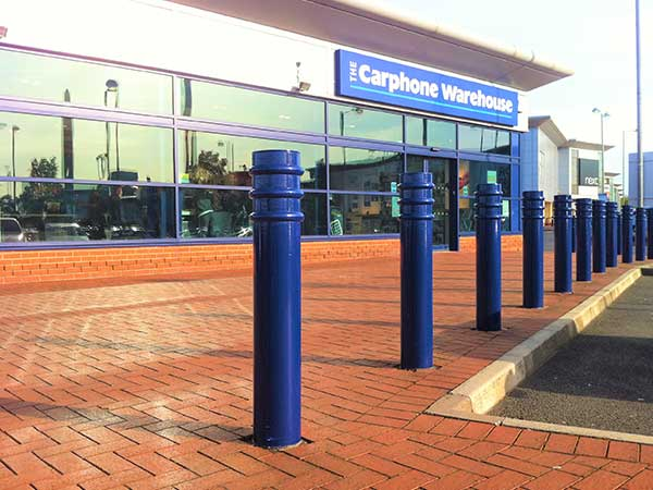 Ribbed bollard by Bollard Street, UK Street Furniture Specialists