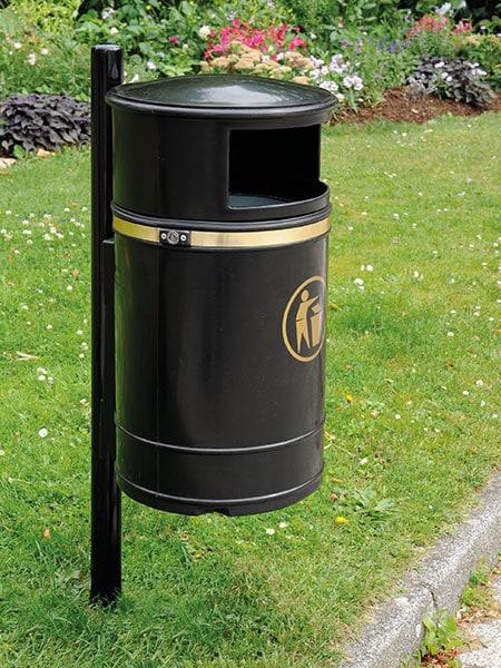 Scarisbrick litter bin by Bollard Street, UK Street Furniture Specialists