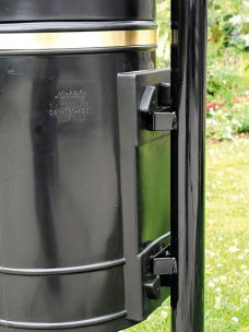 Scarisbrick litter bin by Bollard Street, UK Street Furniture Specialists