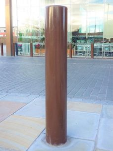 Semi dome top bollard by Bollard Street, UK Street Furniture Specialists