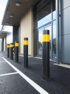 Single banded bollard by Bollard Street, UK Street Furniture Specialists