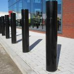 Single rebate bollard by Bollard Street, UK Street Furniture Specialists