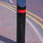 Sloped top mitred bollard by Bollard Street, UK Street Furniture Specialists