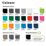 Stafford litter bin colour options by Bollard Street, UK Street Furniture Specialists