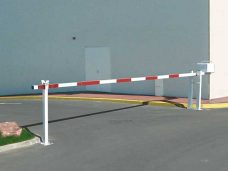 Telescopic boom barrier by Bollard Street, UK Street Furniture Specialists